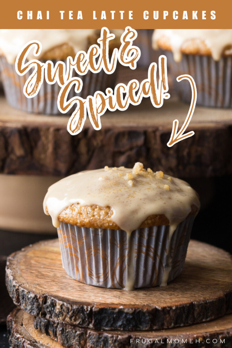 These Chai Tea Latte Cupcakes are deliciously sweet with just a hint of spice, reminiscent of an actual Chai Tea Latte - my favourite coffee house drink.