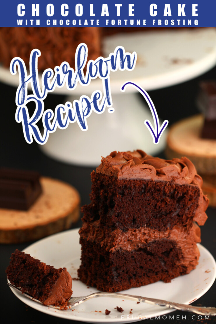 This recipe for Chocolate Cake with Chocolate Fortune Frosting is one of my Grandmothers heirloom recipes. I've revamped it to make it moist and delicious, keeping the incredible frosting the same.