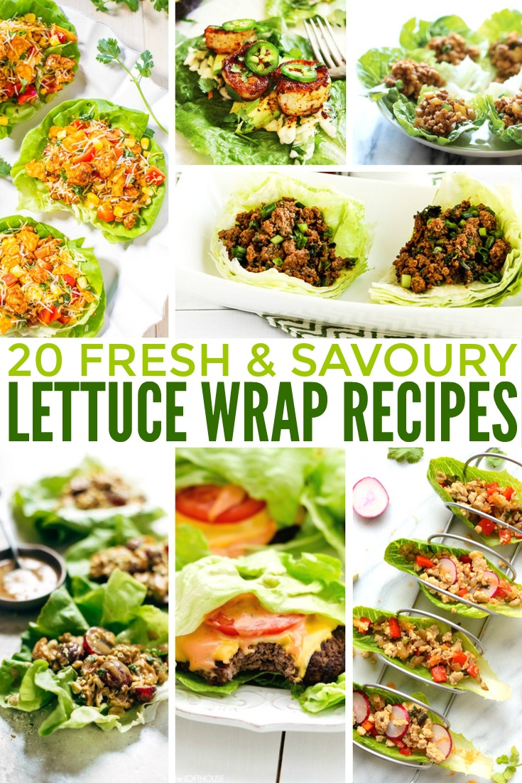 Lettuce wrap recipes are a great idea when you want to cut back on carbs. You can make lettuce wraps with an incredible variety of fillings. Since lettuce is very low in calories, lettuce wraps can work for so many different types of diets, depending on the rest of the ingredients. Vegan, vegetarian, gluten-free, paleo, clean eating....you name it!