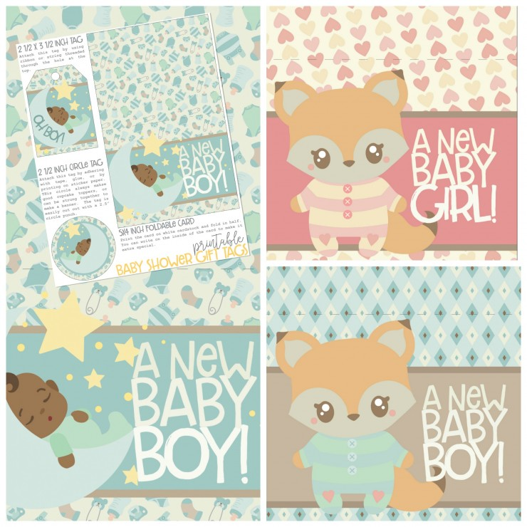 graphic regarding Baby Shower Gift Tags Printable called No cost Printable Youngster Shower Present Tags - Frugal Mother Eh!
