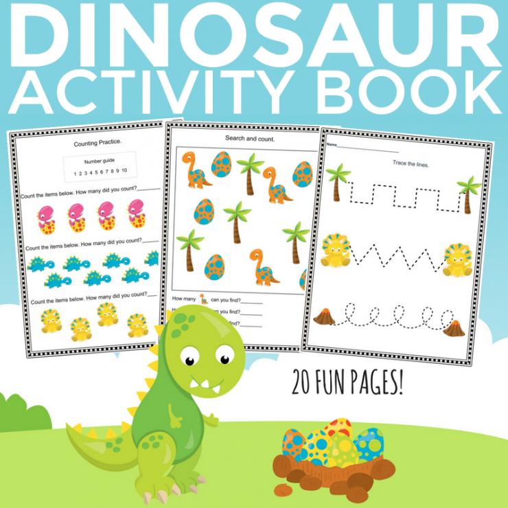 Free Printable Dinosaur Activity Book