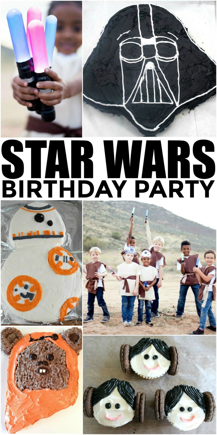 How to Throw the Ultimate Star Wars Birthday Party to please any Star Wars fan on their birthday. A Star Wars themed birthday party is a natural choice with the surging popularity of the franchise. Check out these 25 ideas that will help you throw an amazing Star Wars themed party for fans of Star Wars!