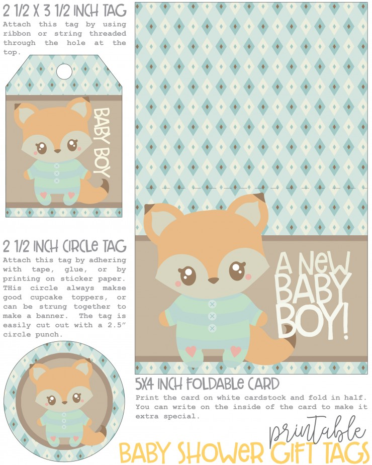 graphic relating to Printable Baby Shower Gift Tags named Cost-free Printable Kid Shower Present Tags - Frugal Mother Eh!