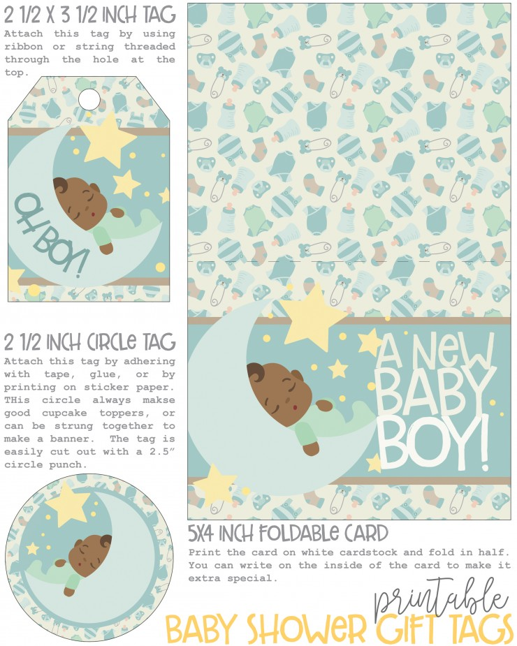 picture about Printable Baby Shower Gift Tags called Absolutely free Printable Youngster Shower Reward Tags - Frugal Mother Eh!