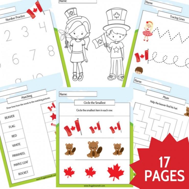 Free Printable Canada Day Preschool Activity Book