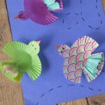 Cupcake Wrapper Birds Kids Craft