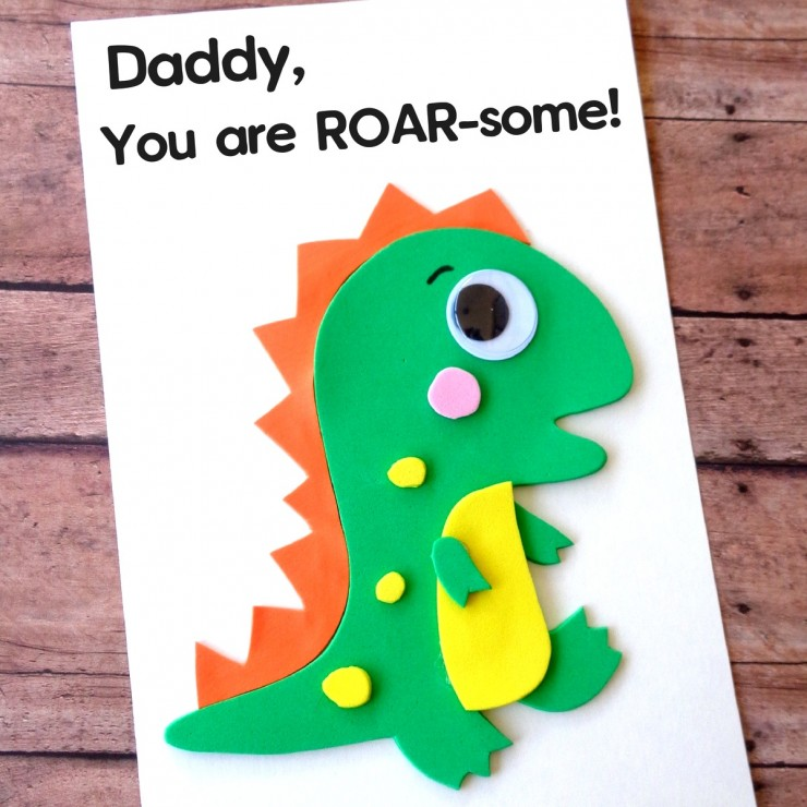 DIY Father's Day Dinosaur Card with Printable Template