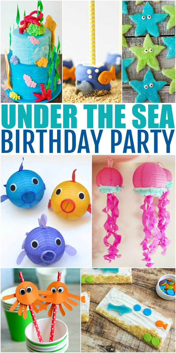 How to Throw the Ultimate Under the Sea Birthday Party to please any birthday girl or boy. Check out these 25 ideas that will help you throw an amazing Under the Sea themed party for girls and boys! These ideas are great to adapt for other party themes too! Think Little Mermaid, Bubble Guppies, Finding Nemo and more!