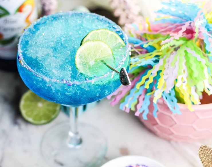 This Virgin Blue Margarita is a fun and refreshing drink to help you cool off all summer long. If you are looking for a non-alcoholic beverage to serve at your summer parties and backyard barbecues, you have found the perfect one!