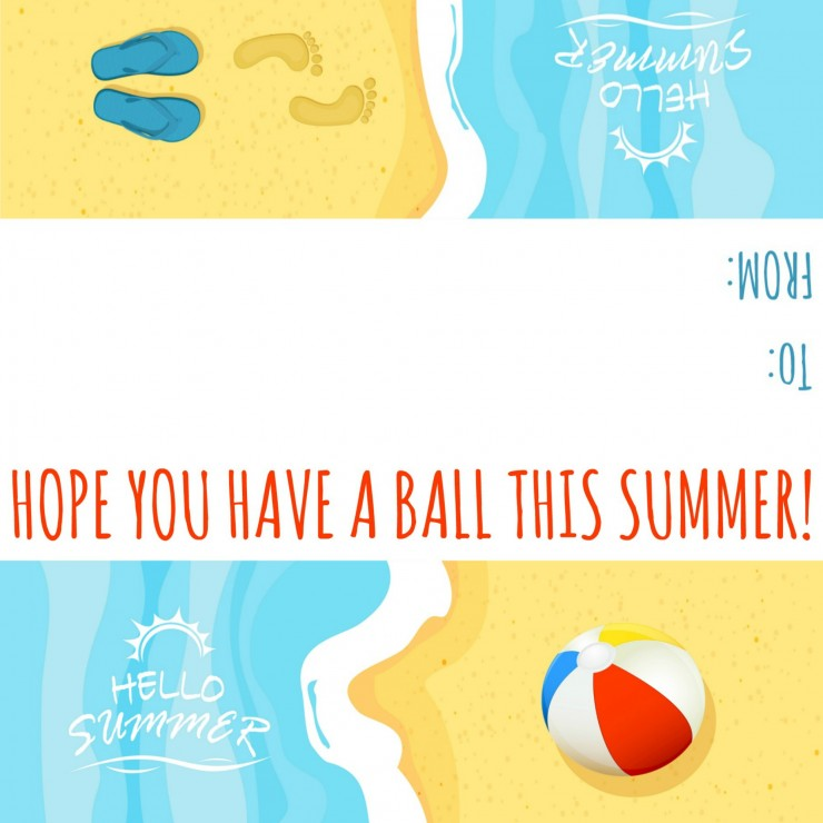 image about Have a Ball This Summer Printable known as Contain a Ball: Previous Working day of Faculty Cl Present Tags - Frugal Mother Eh!