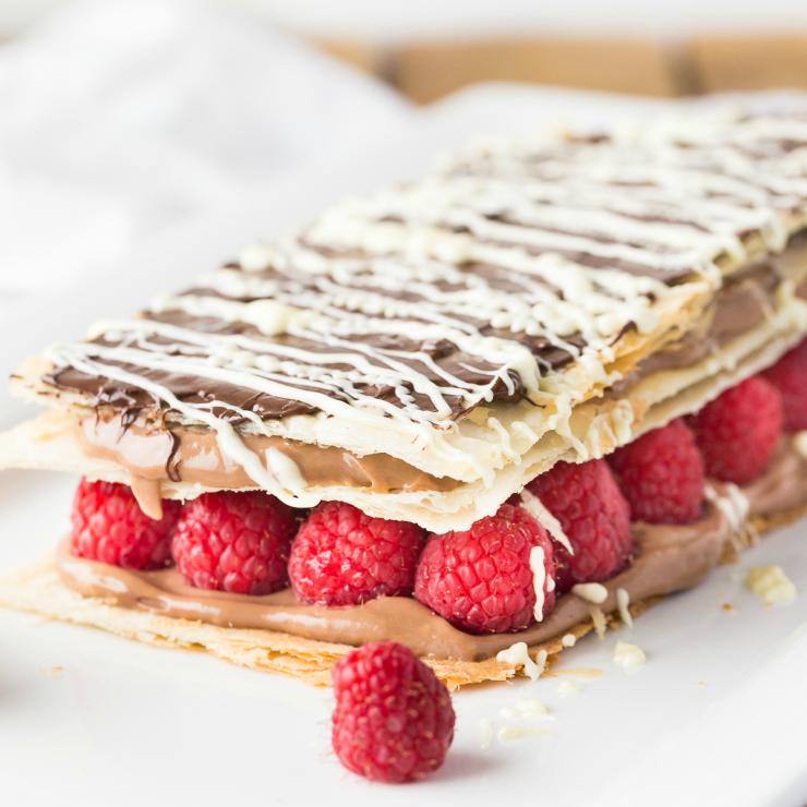 Chocolate and Raspberry Napoleon - Frugal Mom Eh!
