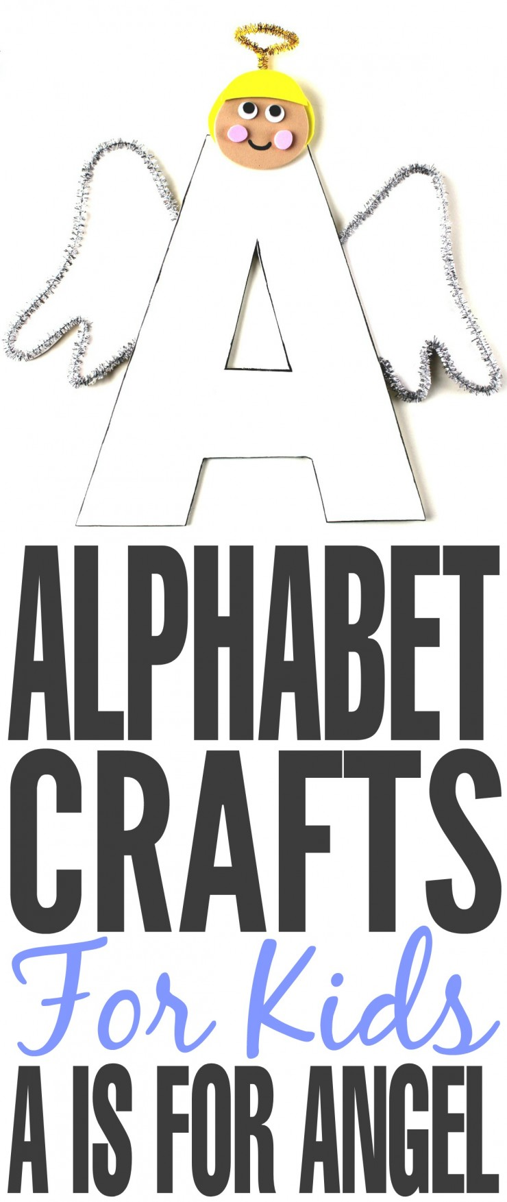 I'm going to be sharing a series of ABCs kids crafts starting this week with the letter A. These Alphabet Crafts For Kids are a fun way to introduce your child to the alphabet.