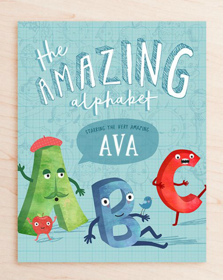 The Amazing Alphabet Augmented Reality Personalised Book from TinyMe