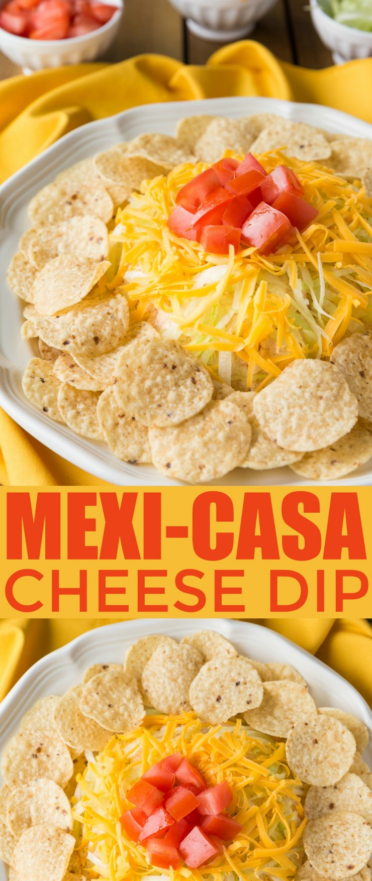 This Mexi-Casa cheese dip has been a family favourite since I was a kid. It is like a taco redone as a cheese ball topped with all the fixings you might dress your taco up in. It's a fabulous appetizer for any party or family get-together.