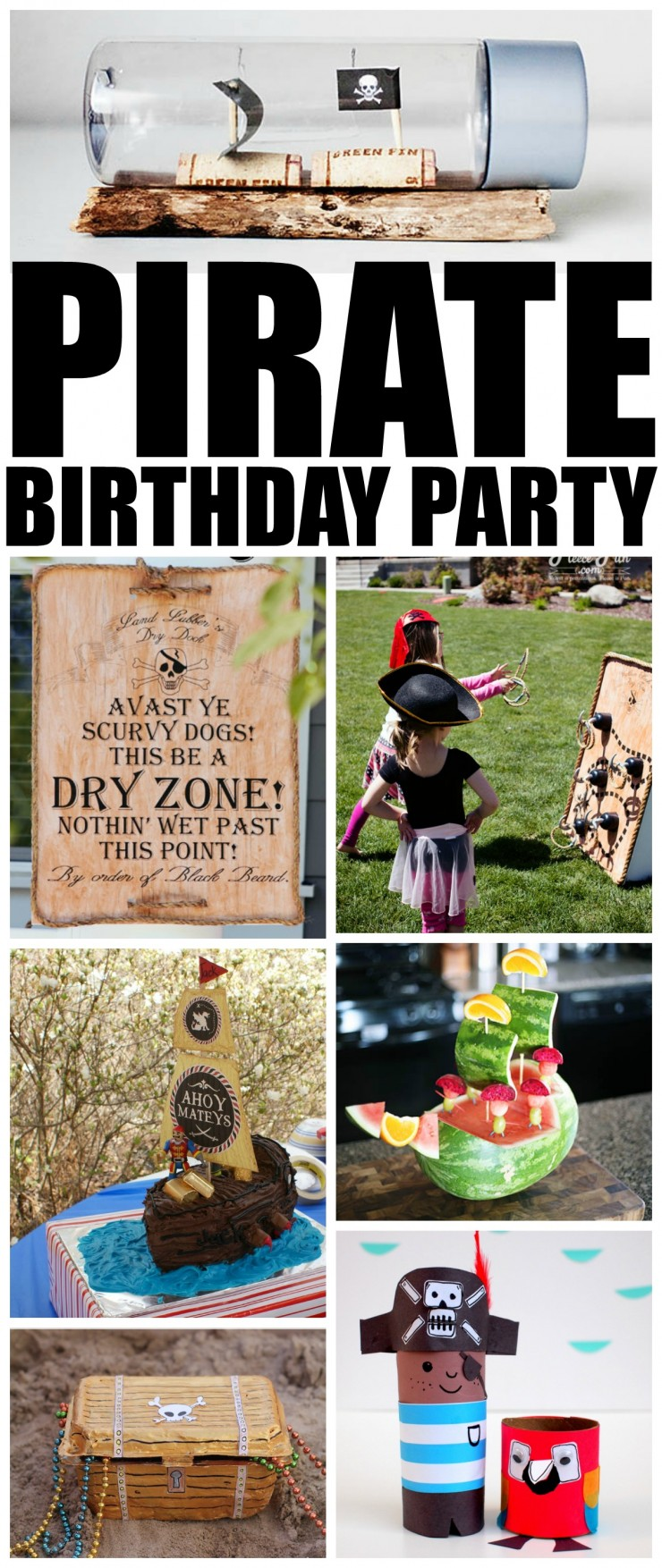 How to Throw the Ultimate Pirate Birthday Party to please any birthday girl or boy. Little kids tend to love pirates. They just capture their imaginations! For many kids, a pirate themed birthday party is a natural choice. Check out these 25 ideas that will help you throw an amazing pirate themed party for kids!