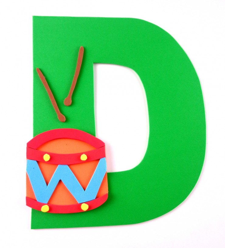 Alphabet Crafts for Kids: D is for Drum