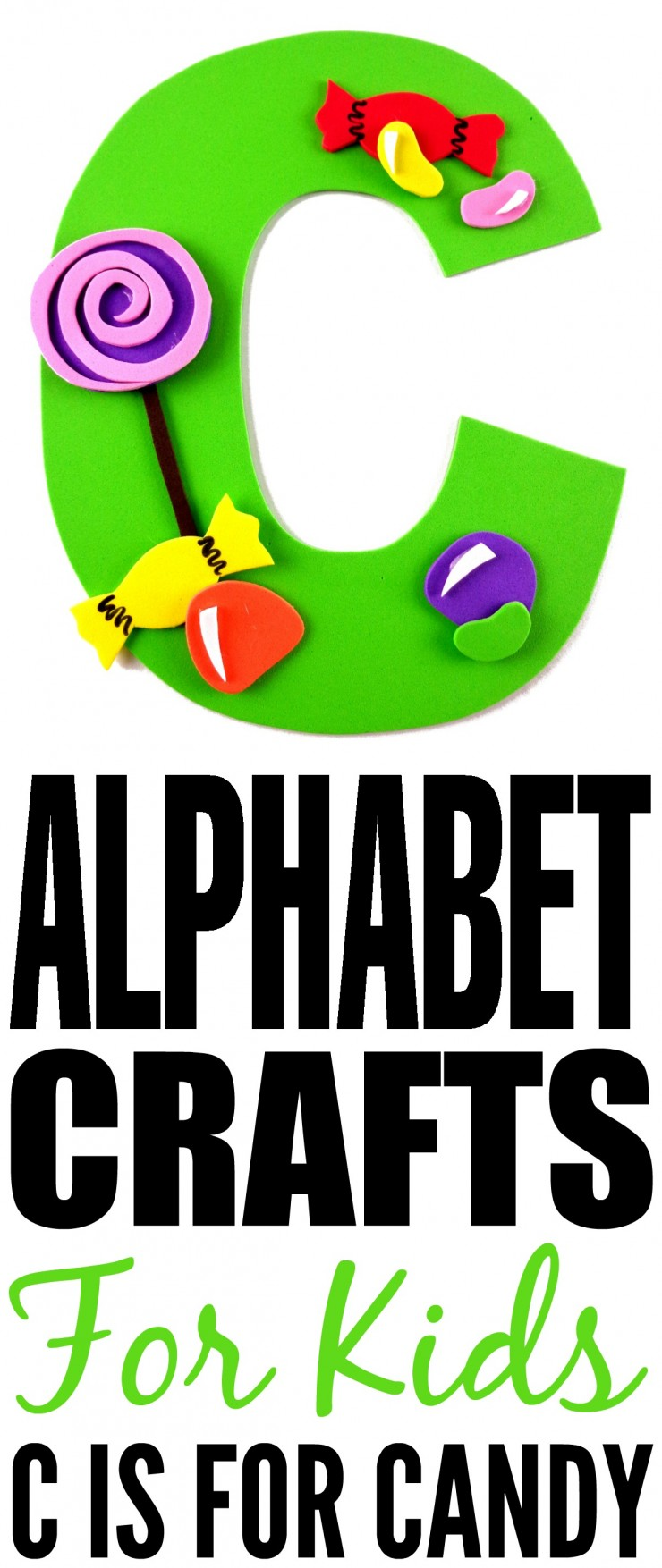 This week is my series of ABCs kids crafts featuring the Alphabet, we are doing a C is for Candy craft. These Alphabet Crafts For Kids are a fun way to introduce your child to the alphabet.