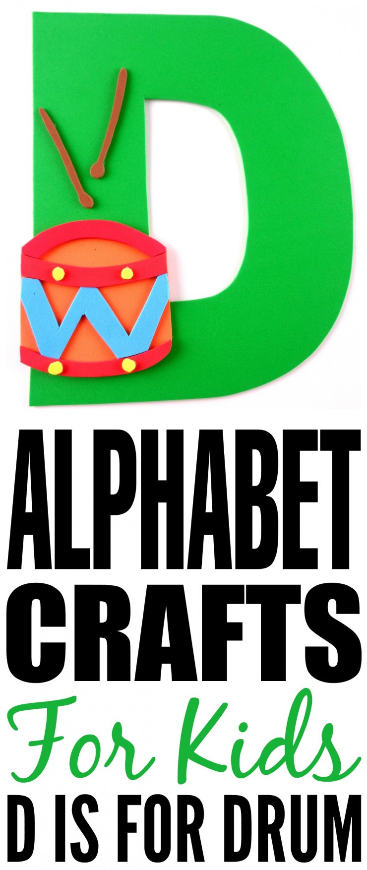 This week is my series of ABCs kids crafts featuring the Alphabet, we are doing a D is for Drum craft. These Alphabet Crafts For Kids are a fun way to introduce your child to the alphabet.