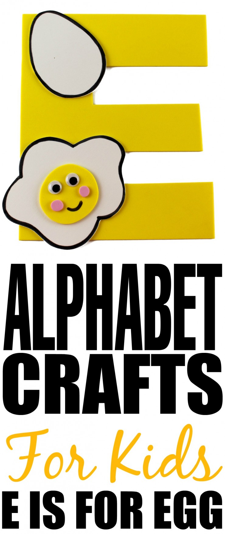 This week is my series of ABCs kids crafts featuring the Alphabet, we are doing a E is for Egg craft. These Alphabet Crafts For Kids are a fun way to introduce your child to the alphabet.