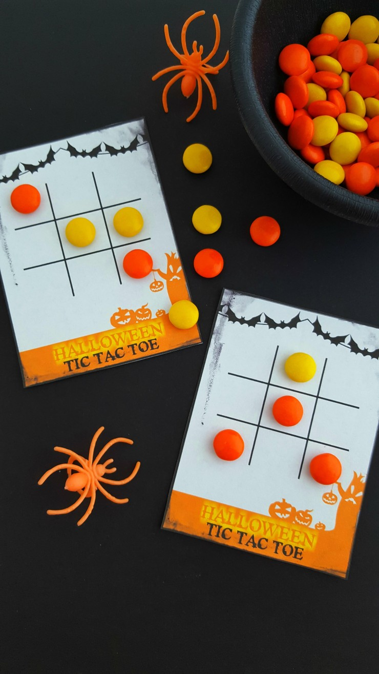 photo relating to Printable Tic Tac Toe identified as Cost-free Printable Halloween Tic Tac Toe Playing cards - Frugal Mother Eh!