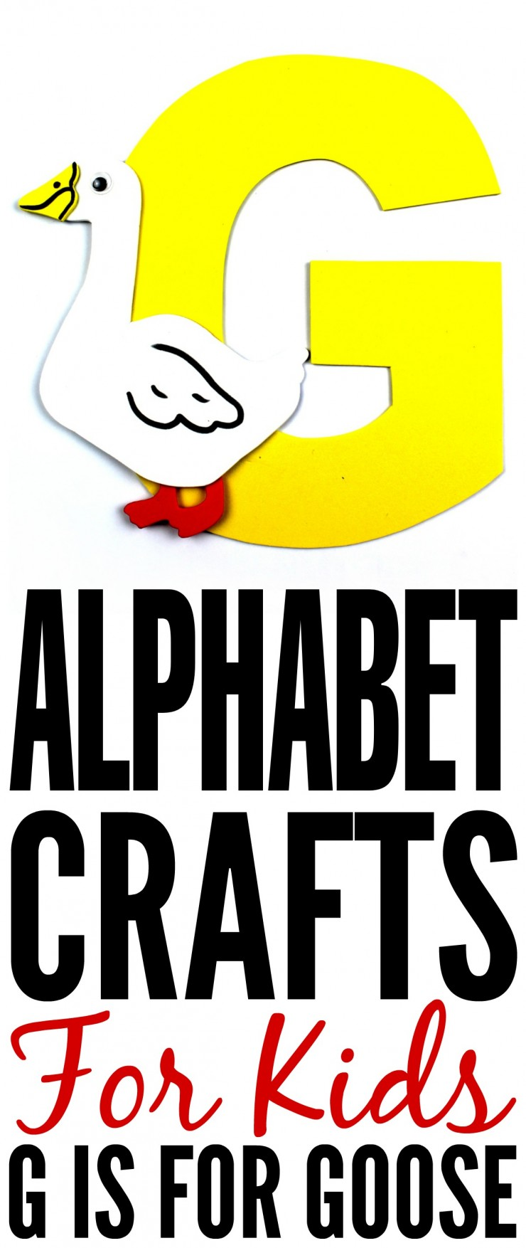 This week is my series of ABCs kids crafts featuring the Alphabet, we are doing a G is for Goose craft. These Alphabet Crafts For Kids are a fun way to introduce your child to the alphabet.