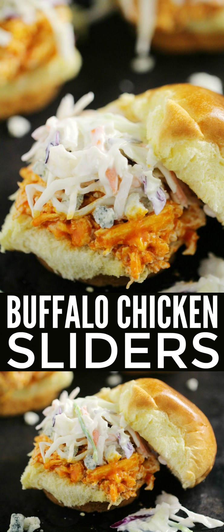 recipe: easy buffalo chicken sliders [37]