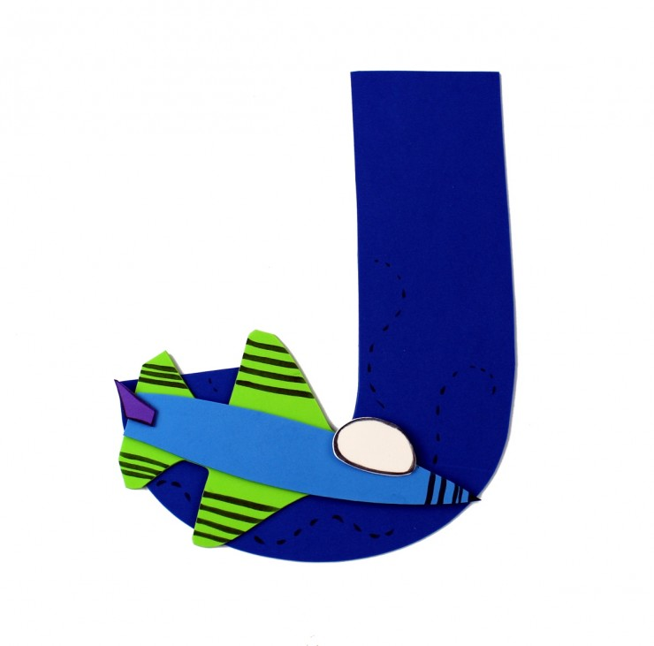 Alphabet Crafts for Kids: J is for Jet