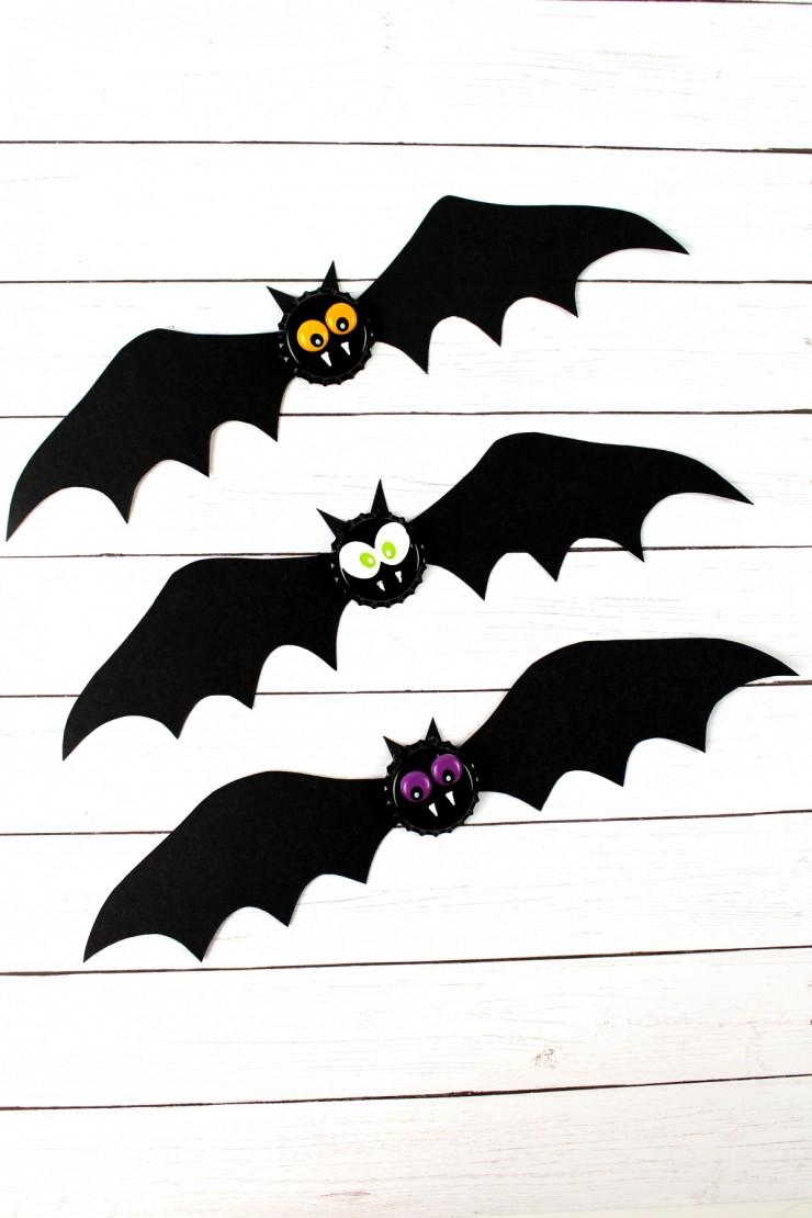 Spooky Bat Halloween Bottlecap Magnets Frugal Mom Eh
