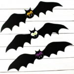 Spooky Bat Halloween Bottlecap Magnets