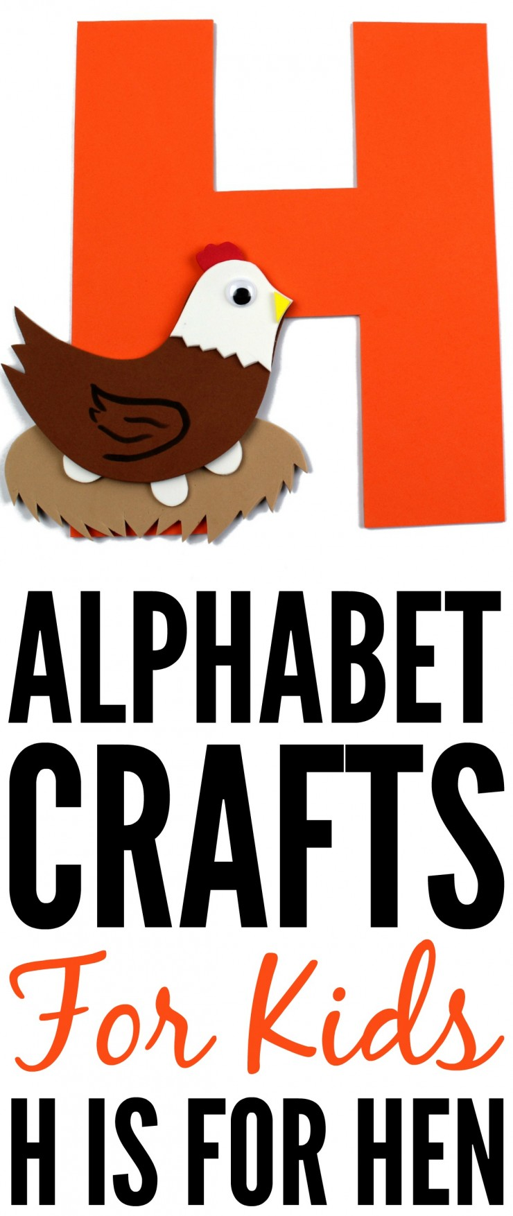 This week is my series of ABCs kids crafts featuring the Alphabet, we are doing an H is for Hen craft. These Alphabet Crafts For Kids are a fun way to introduce your child to the alphabet.
