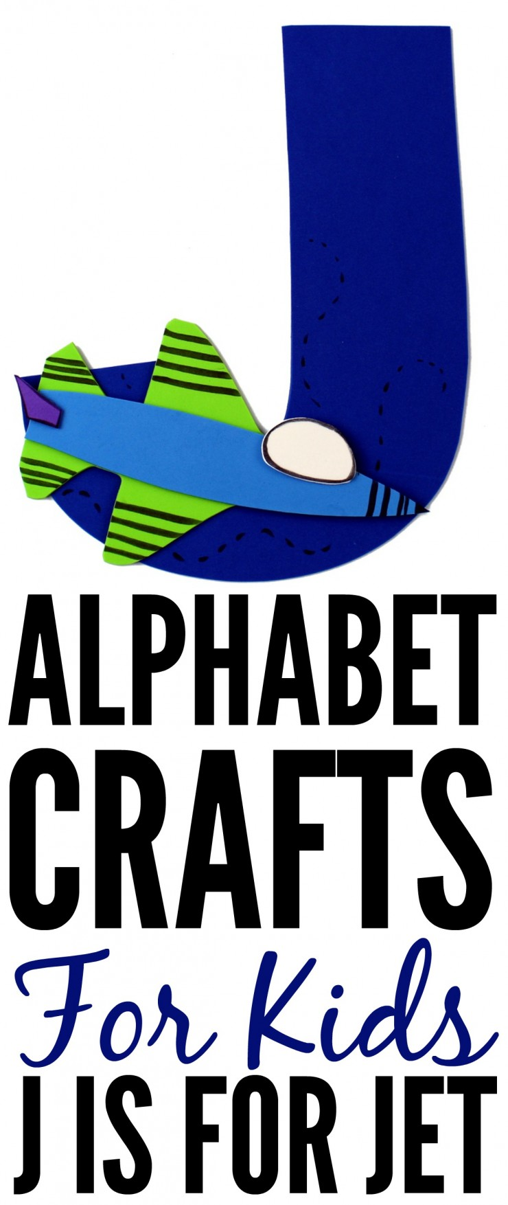 This week is my series of ABCs kids crafts featuring the Alphabet, we are doing a J is for Jet craft. These Alphabet Crafts For Kids are a fun way to introduce your child to the alphabet.