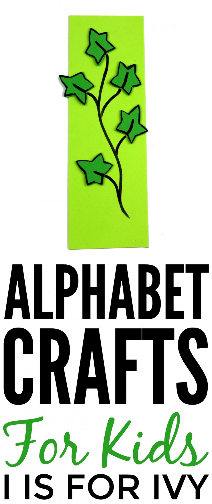 This week is my series of ABCs kids crafts featuring the Alphabet, we are doing a I is for Ivy craft. These Alphabet Crafts For Kids are a fun way to introduce your child to the alphabet.