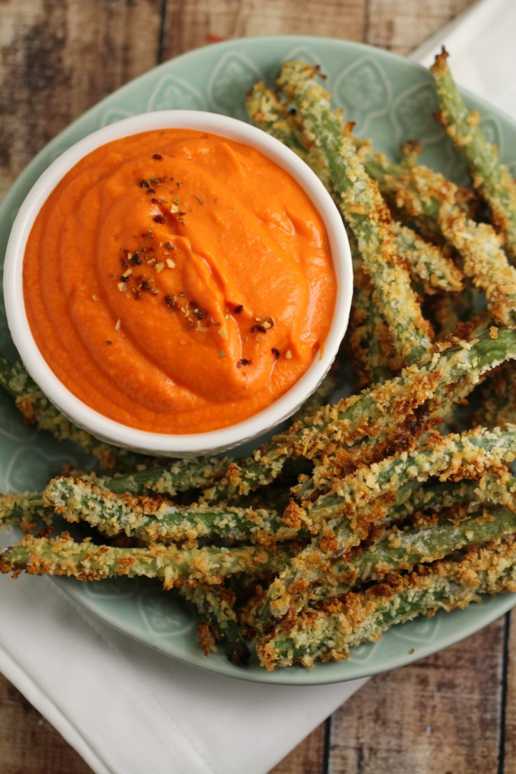 These crispy Green Bean Fries pair wonderfully with this nutritious Sweet Potato Dip for an after-school snack kids will be unable to resist. These are also great as an appetizer!