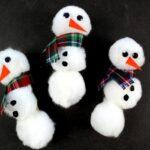 Pom Pom Snowmen Magnets