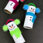 Recycled Toilet Paper Tube Snowmen