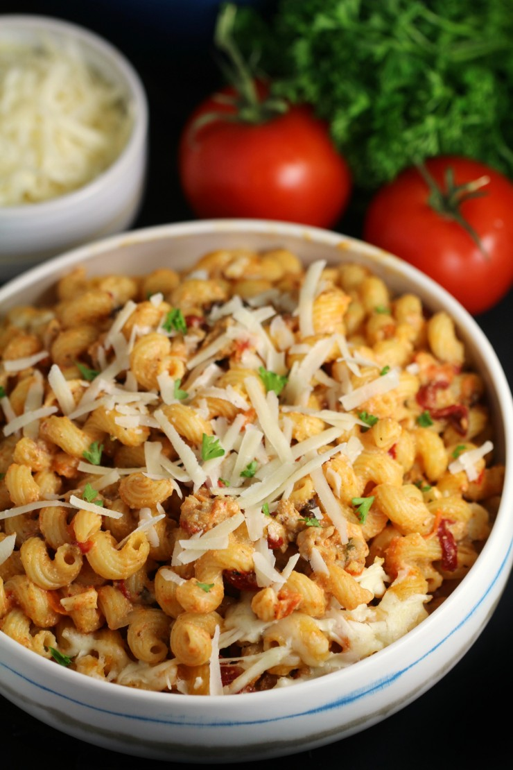 When the weather begins to turn cold, snuggle up with this cozy stovetop cavatappi pasta.