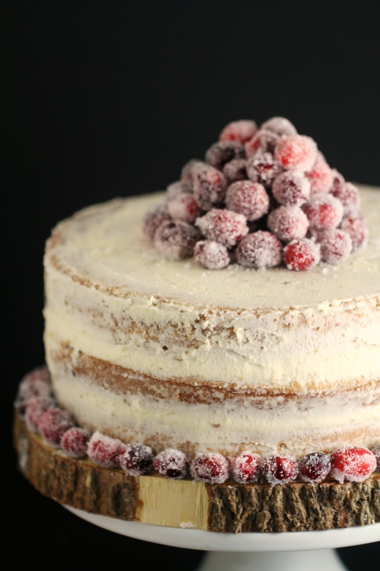 Nobody will believe this Cranberry White Chocolate Cake with Frosted Cranberries is dairy and egg-free and will be wowed by not only its rustic beauty but also by its decadent flavour. The perfect way to finish off your holiday meal, this cake is a must for this year's menu!