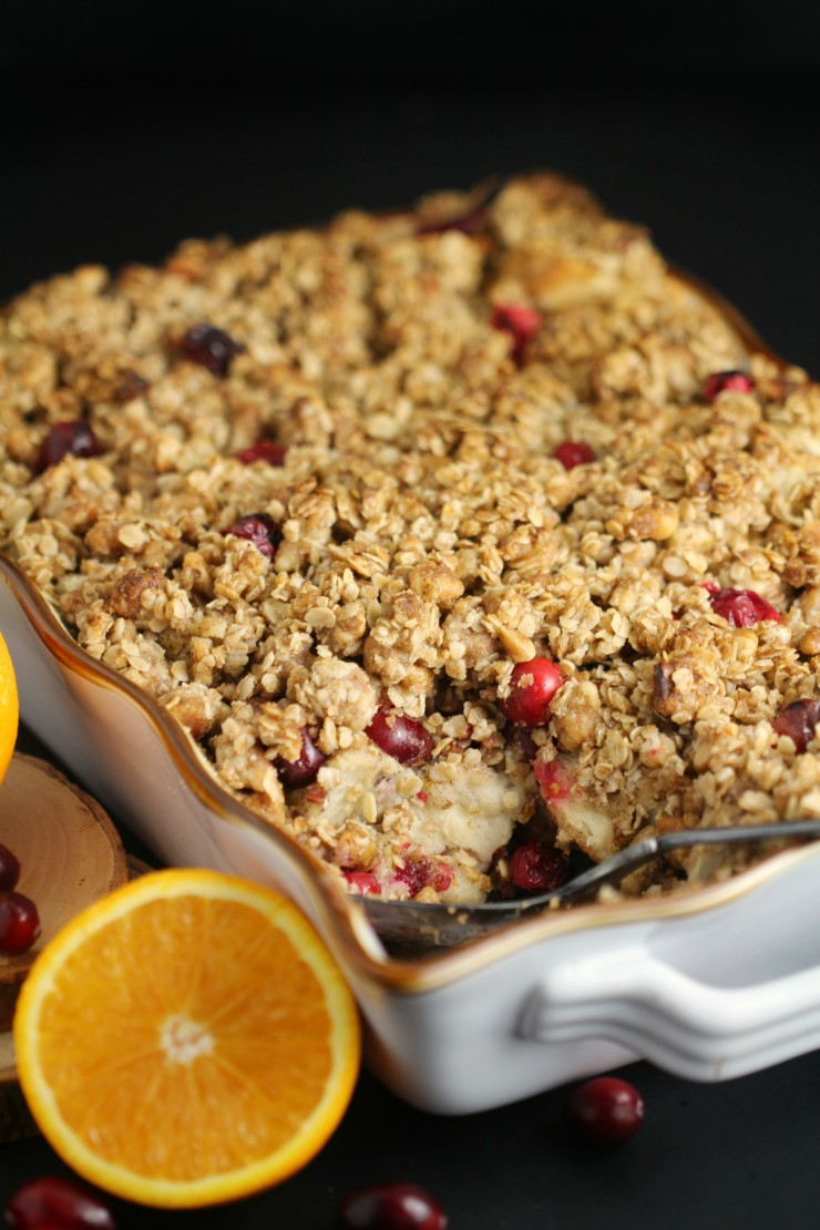 This Orange-Cranberry French Toast Casserole is a perfect make-ahead recipe for the holiday season whether you are feeding your family or a crowd. Prep the night before and you are ready to go for family brunch.