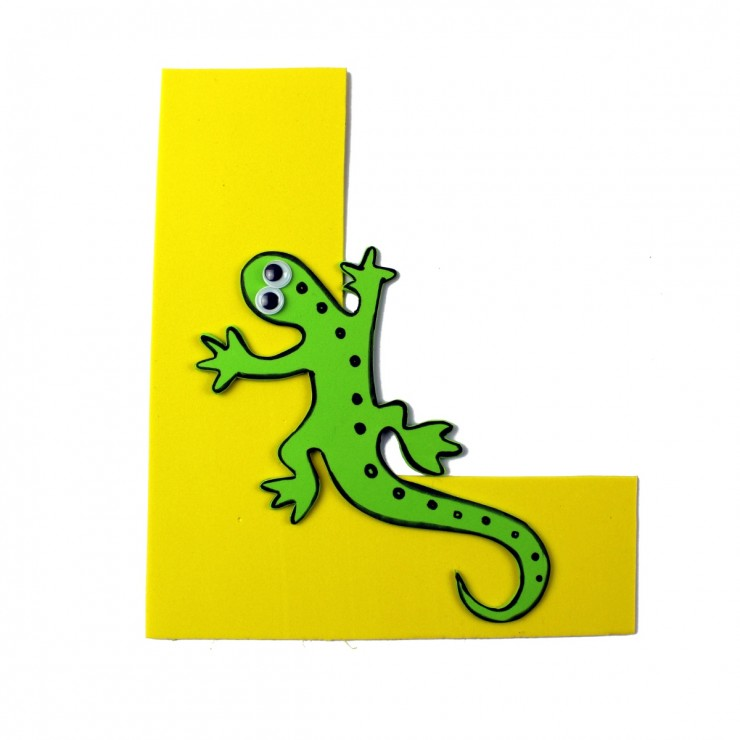 Alphabet Crafts for Kids: L is for Lizard