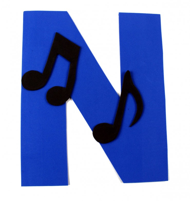 Alphabet Crafts for Kids: N is for Note
