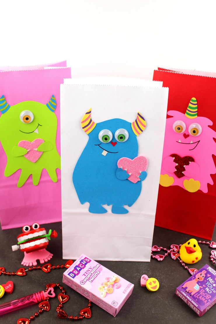 These super cute Valentine's Day Monster Treat Bags are ready to be filled with candy and favours! They are sure to make someone smile!