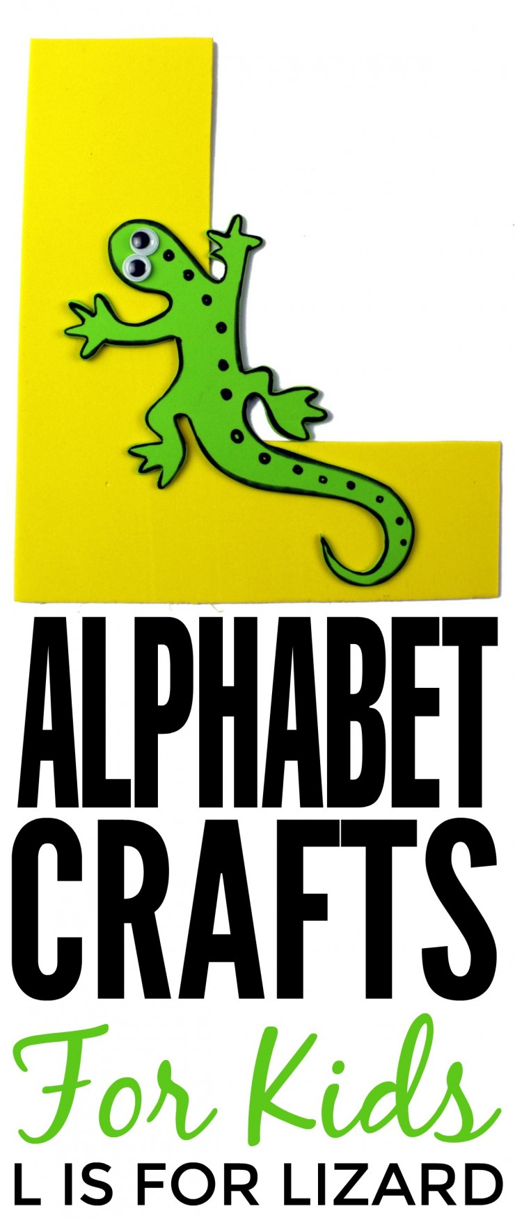 This week in my series of ABCs kids crafts featuring the Alphabet, we are doing a L is for Lizard craft. These Alphabet Crafts For Kids are a fun way to introduce your child to the alphabet.