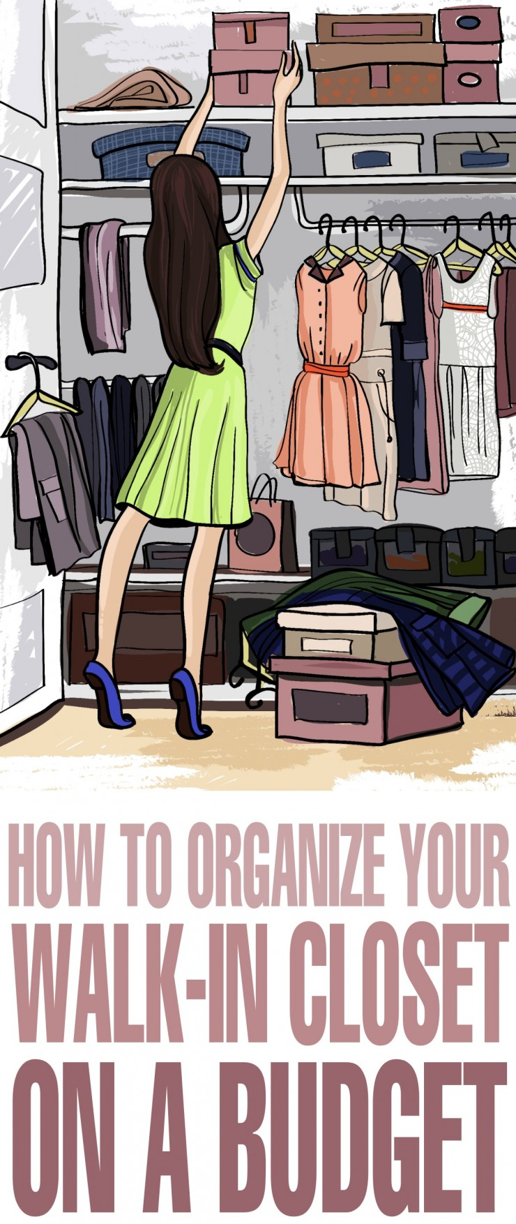 When you have a walk-in closet, you get more space for all of your clothes, shoes, and accessories. Unfortunately, closets tend to get messy; and the more space you have, the messier it can get. If this sounds familiar, continue reading to get tips on how to organize your walk-in closet on a budget.