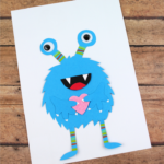 Valentine's Day Blue Monster Cards