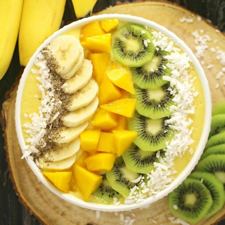 Mango Banana Smoothie Bowl