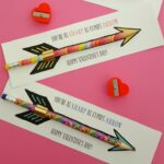 Cupid's Arrow Pencil Valentine's Day Printable