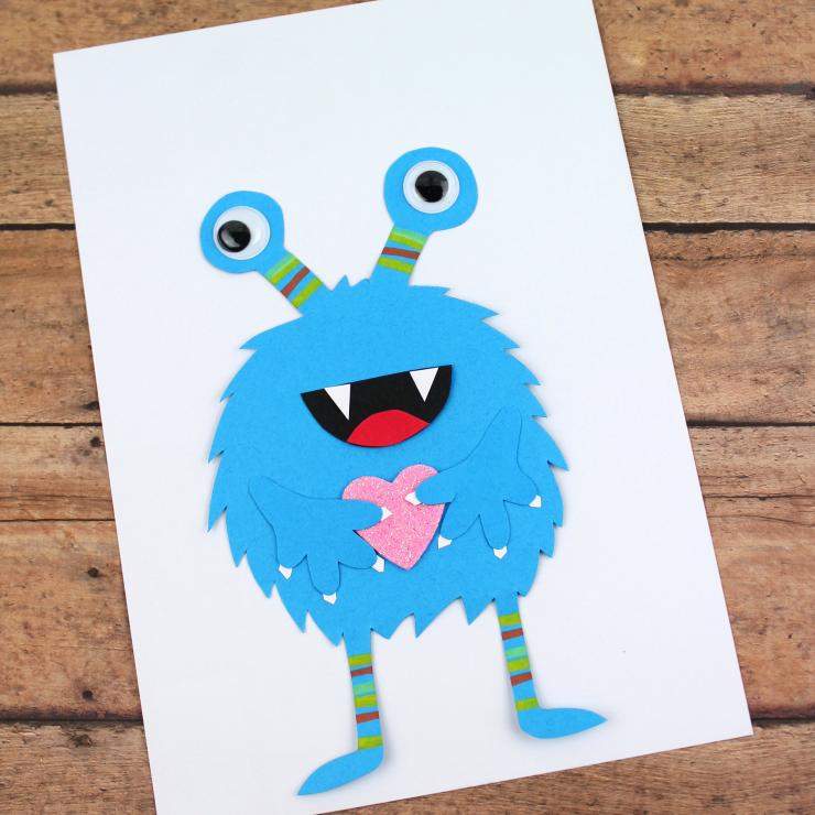 Valentine's Day Blue Monster Cards