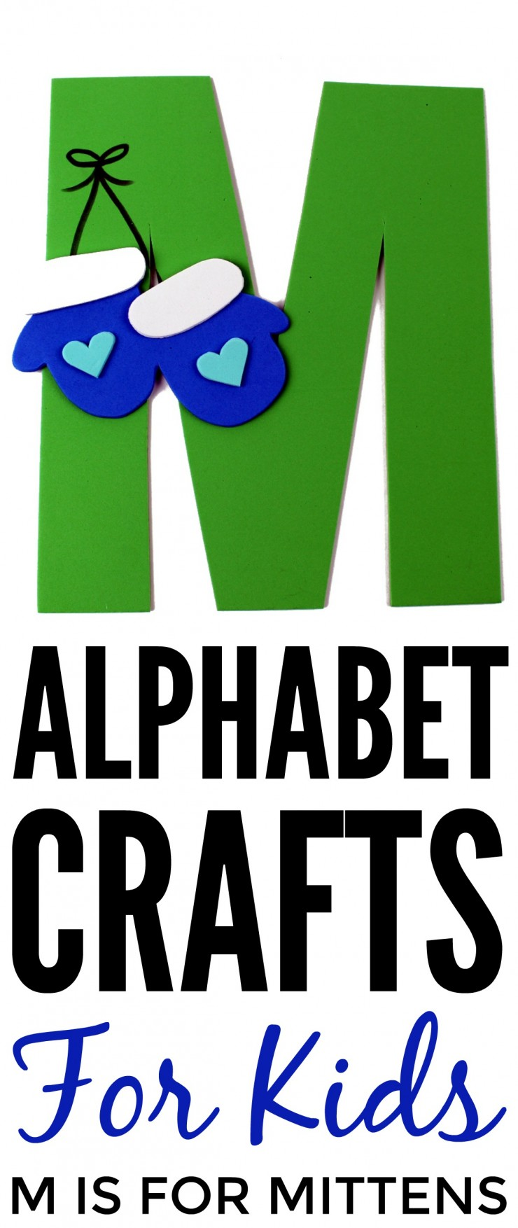 This week in my series of ABCs kids crafts featuring the Alphabet, we are doing a M is for Mitten craft. These Alphabet Crafts For Kids are a fun way to introduce your child to the alphabet.