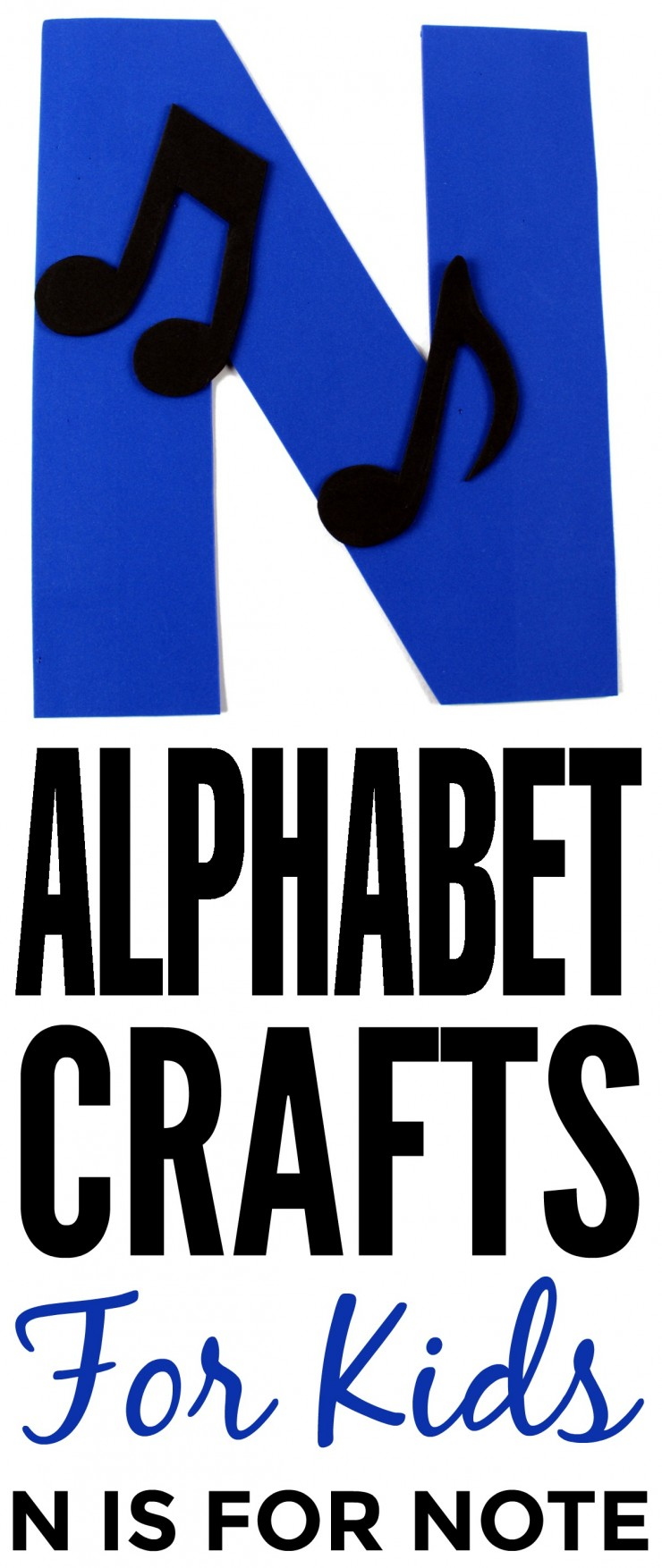 This week in my series of ABCs kids crafts featuring the Alphabet, we are doing a N is for Note craft. These Alphabet Crafts For Kids are a fun way to introduce your child to the alphabet.