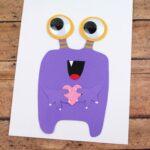 Valentine's Day Purple Monster Card